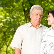 Senior happy couple embracing, outdoors — Stock Photo #11477036