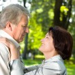 Senior happy couple embracing, outdoors — Stock Photo #11477076