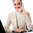 Businesswoman working at office, isolated — Stock Photo #11703185