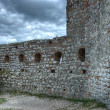 Stone castle walls — Stock Photo