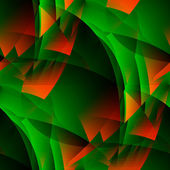 Green-fiery abstract. — Stock Photo