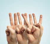 Finger smileys — Stock Photo