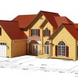 House and plan territory — Stock Photo #11107913