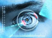 Iris skenování bezpečnost — Stock fotografie
