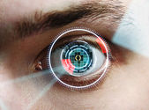 Eye interface — Stock Photo