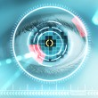 Iris scan security — Stock Photo