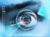 视网膜扫描 — 图库照片