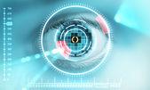Iris scan security — Stock Photo