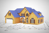 Plan to build and house — Stock Photo