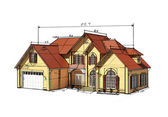 Scetch house — Stock Photo
