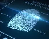 指纹扫描 — 图库照片