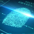 Scanning fingerprint - Stock Photo
