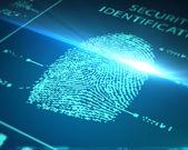 Scanning fingerprint — Stock Photo