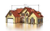 Scetch brick house — Stock Photo