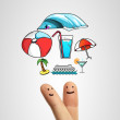 Finger dream vacation — Stock Photo