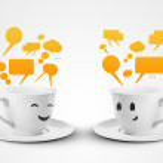 Mugs communicate — Stock Photo