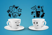Smile cups — Stock Photo