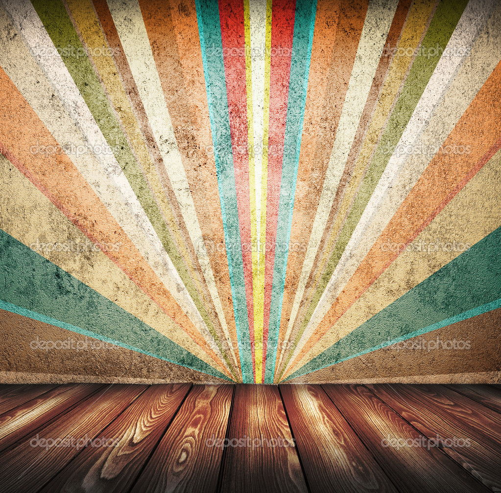 Brown floor and multicolor  wall  Stock Photo #11411981