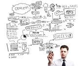 стратегия успеха — Стоковое фото