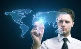 Tekening wereldkaart — Stockfoto