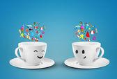 Cups dream vocation — Stock Photo