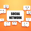 Bubble speech social network - Foto de Stock