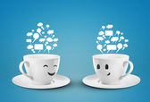 Two happy cup — Stock Photo