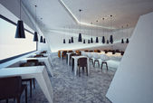 Interieur modern restaurant — Stockfoto