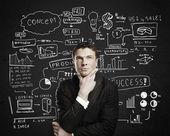 Zamyšlený podnikatel — Stock fotografie