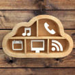 Royalty-Free Stock Photo: Icons cloud