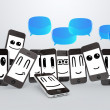 Phones smileys — Stock Photo