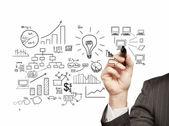 Plan strategy success — Stock Photo