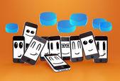 Phones smileys — Stock Photo