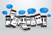 手机表情符号 — 图库照片