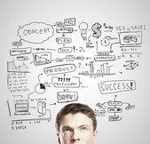 бизнес-план — Стоковое фото