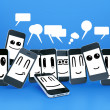 Mobile phones smileys - Foto Stock