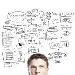 Business plan concept — Stock Photo