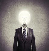 Man lamp-head — Stock Photo