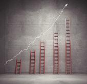 лестницы диаграммы — Стоковое фото