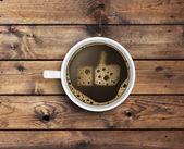 Café con leche en forma — Foto de Stock