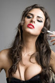 Beautiful Sexy Girl and make-up — Stockfoto