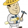 Stock Vector: Construction Worker