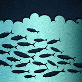 Ocean Life — Stock Vector