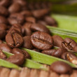 Naturally roasted coffee beans, details — Stock Photo