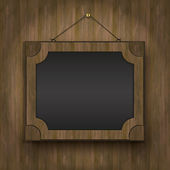 Frame oude hout schoolbord hout raster — Stockfoto