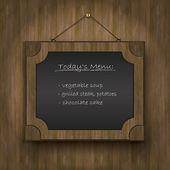 Frame old wood blackboard wood — Stock Vector