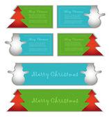 Vector card label symbol christmas color — Stock Vector