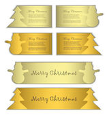 Vector paper card label symbol christmas gold — Stock Vector