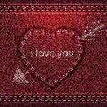 Jeans heart red denim texture — Stock Vector #11814610