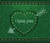 Jeans heart arrow green — Stock Vector